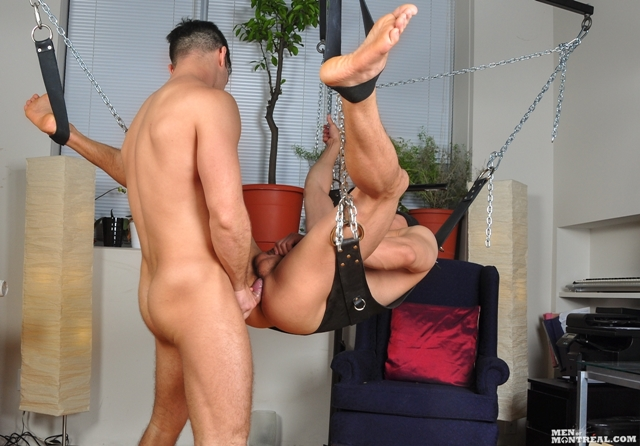 Older-gay-hunks-sling-fuck-Gabriel-Lenfant-Archer-Quan-Men-of-Montreal-07-photo