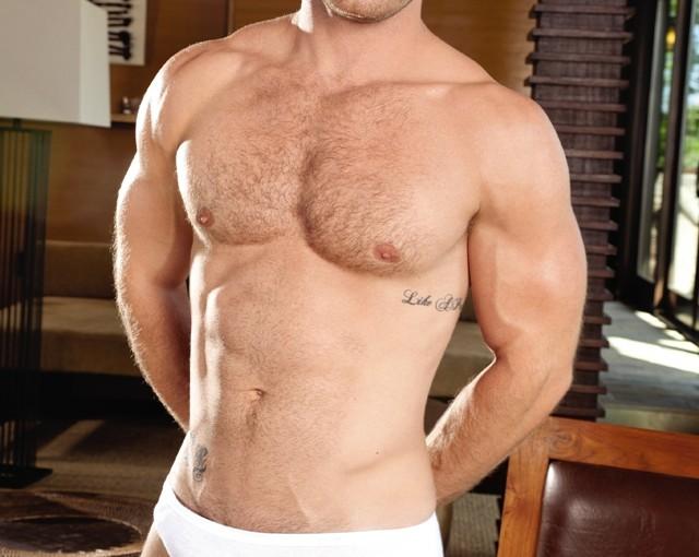 Gay porn stars Mitchell Rock and Landon Conrad fucking