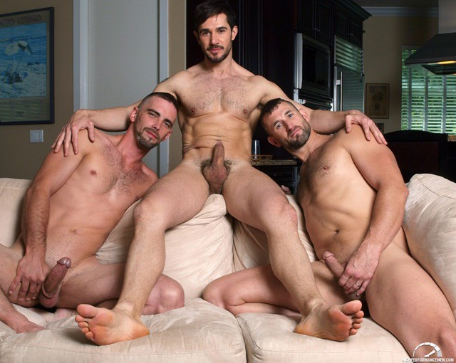 Hot gay threesome Dean Monroe with Joe Parker and CJ Parker (hot new gay porn site)