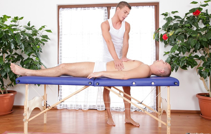 Martin Love and Aslan Brutti's sexy massage ends in a hardcore ass fucking