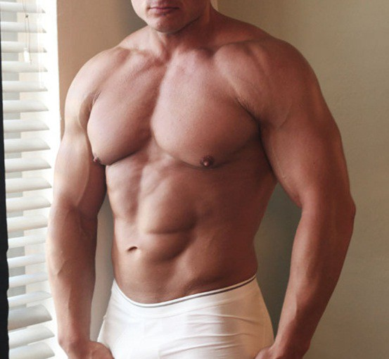 Naked beefcake Rudolf Schneider our blue eyed muscle hunk