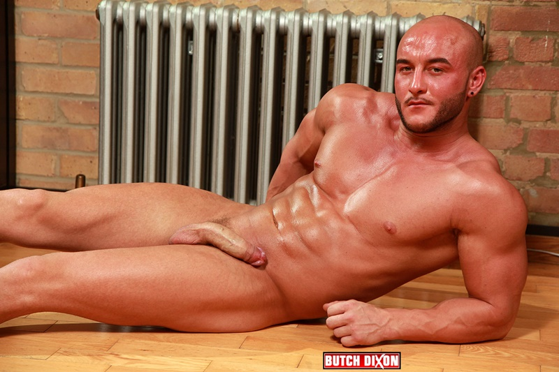 Big burly bi-sexual Lee David with a big donkey dick and bulging muscles