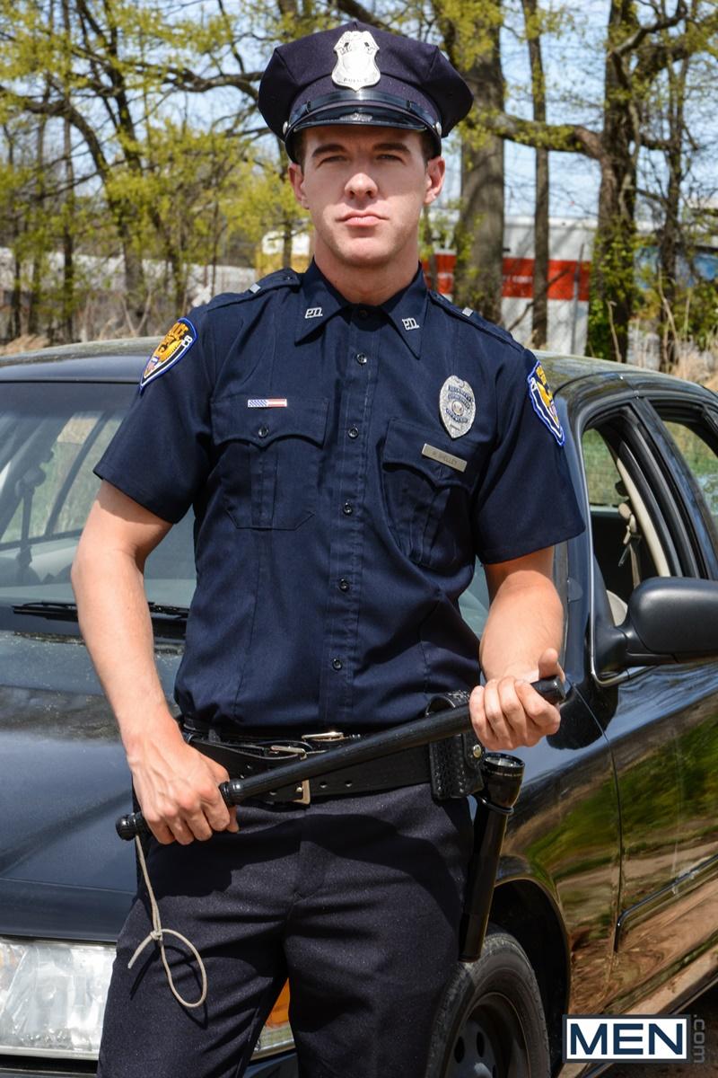 Cock police man Huge