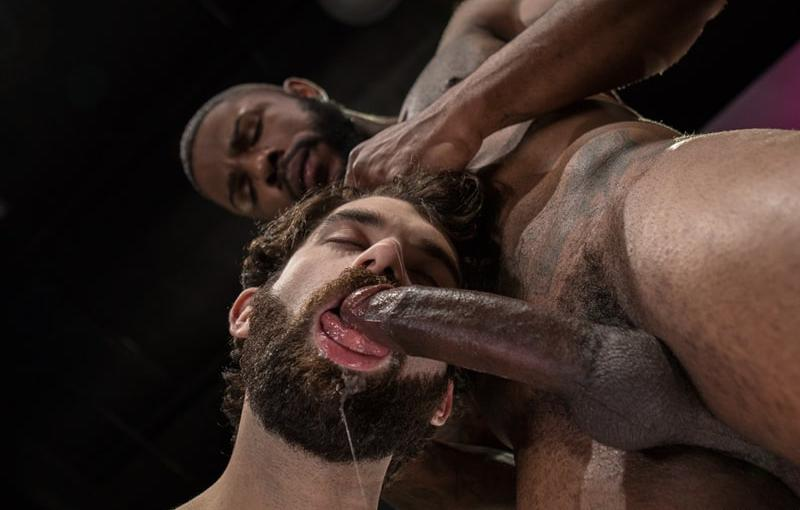 Giovanni Valentino slips his big cock inside the hairy hunk Tegan Zayne and pumps away