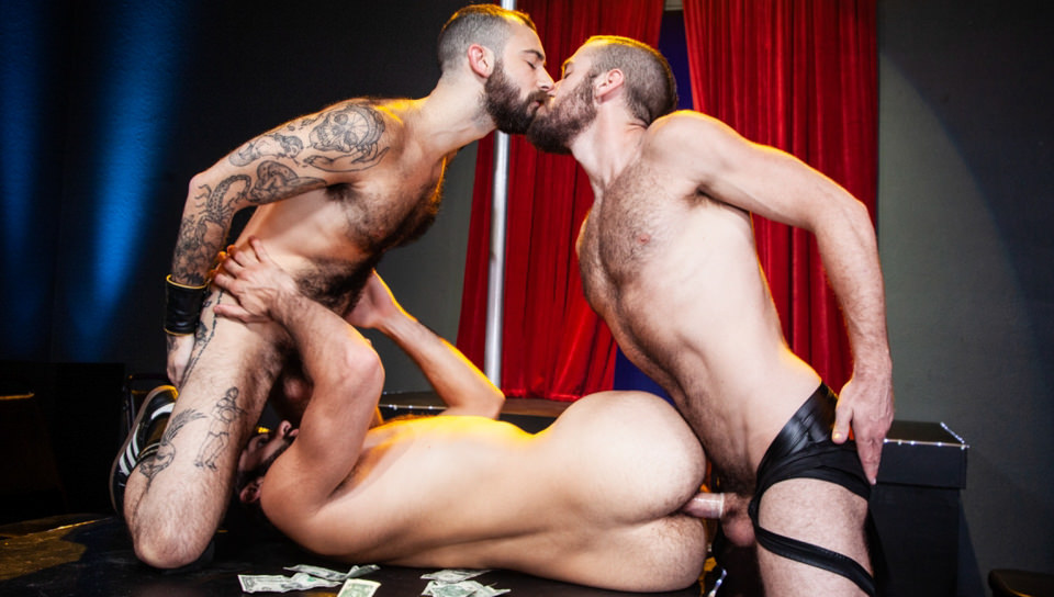 Men for Men Blog 70571_05_01 Hardcore hairy ass fucking threesome Tegan Zayne, Ziggy Banks and Stephen Harte big dick fuckfest Raging Stallion