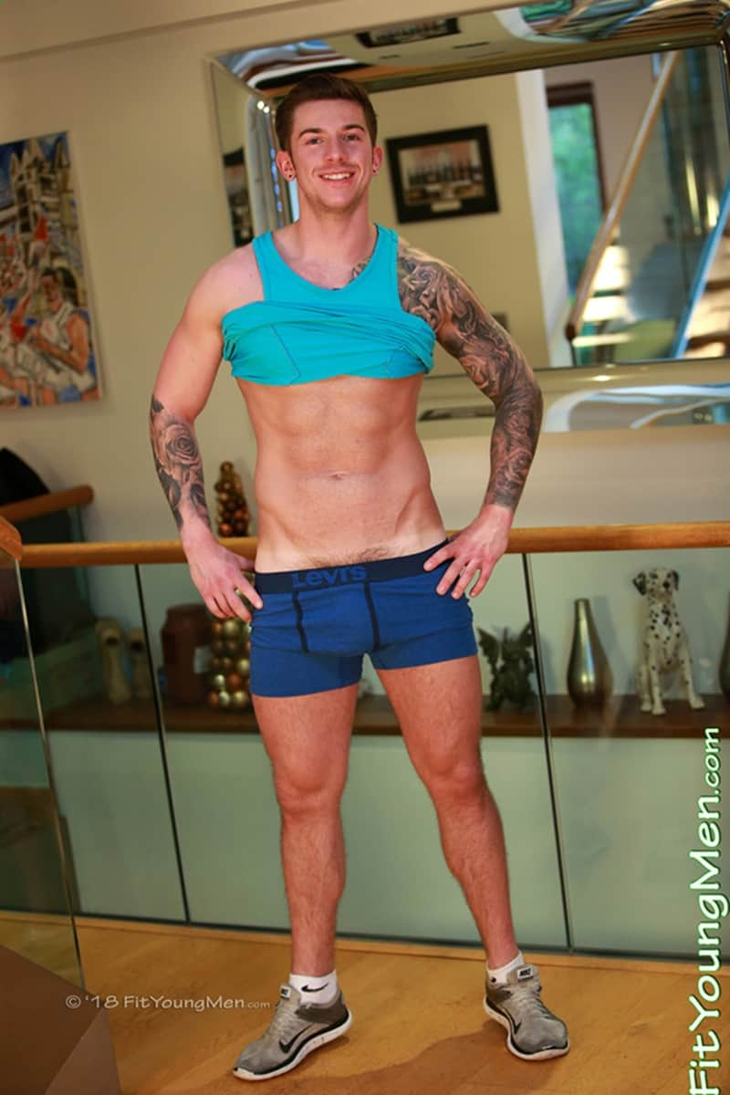 Men for Men Blog Finian-Morris-Ripped-tattooed-young-muscle-hunk-strips-Levis-underwear-jerks-huge-uncut-dick-FitYoungMen-004-gay-porn-pics-gallery Ripped tattooed young muscle hunk Finian Morris strips down to his Levis underwear and jerks his huge uncut dick Fit Young Men