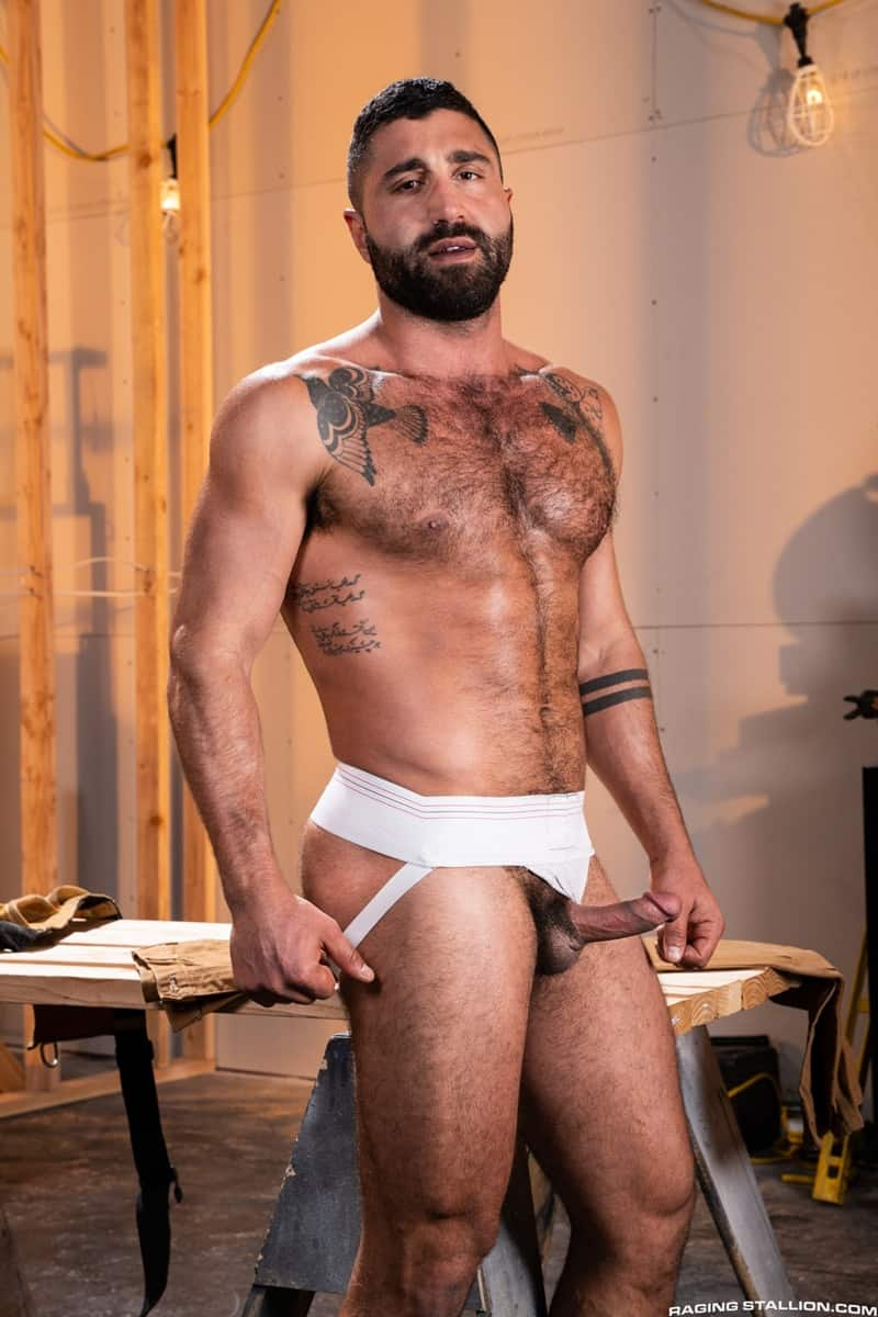Men for Men Blog Gay-Porn-Pics-007-Adam-Ramzi-Sharok-Hairy-muscle-hunk-anal-fuck-huge-raw-cock-deep-ass-crack-RagingStallion Hairy muscle hunk Adam Ramzi slides his huge raw cock deep into Sharok's ass crack Raging Stallion