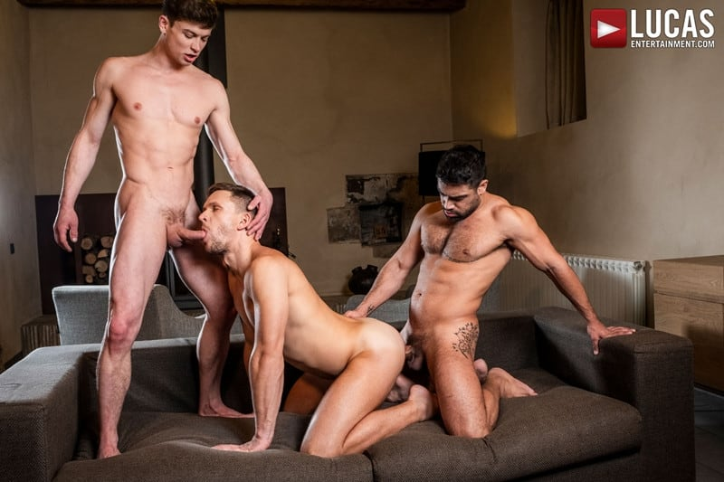 Men for Men Blog Gay-Porn-Pics-018-Andrey-Vic-Wagner-Vittoria-Ruslan-Angelo-Hot-gay-threesome-huge-dicks-double-fuck-hot-muscle-ass-LucasEntertainment Hot gay threesome Andrey Vic and Wagner Vittoria's huge dicks double-fuck Ruslan Angelo's hot muscle ass Lucas Entertainment